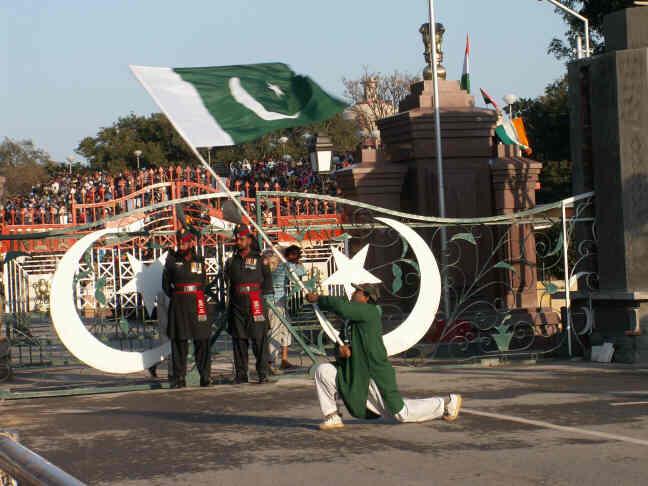 wahga border parade
