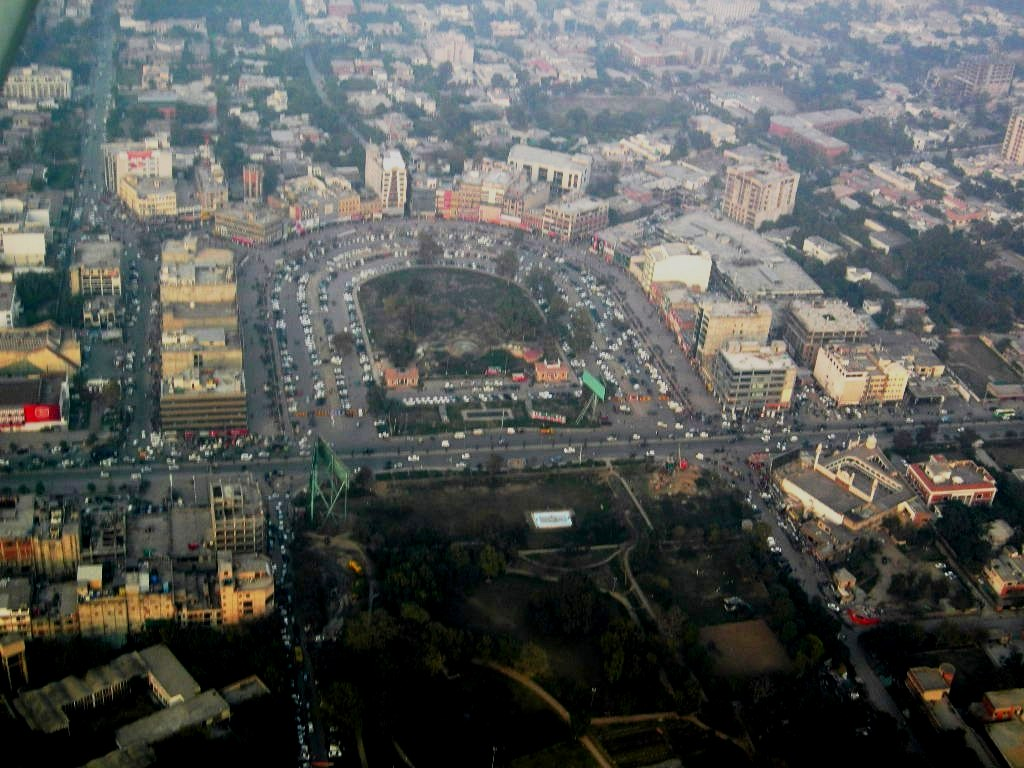 Aerial view of Lahore