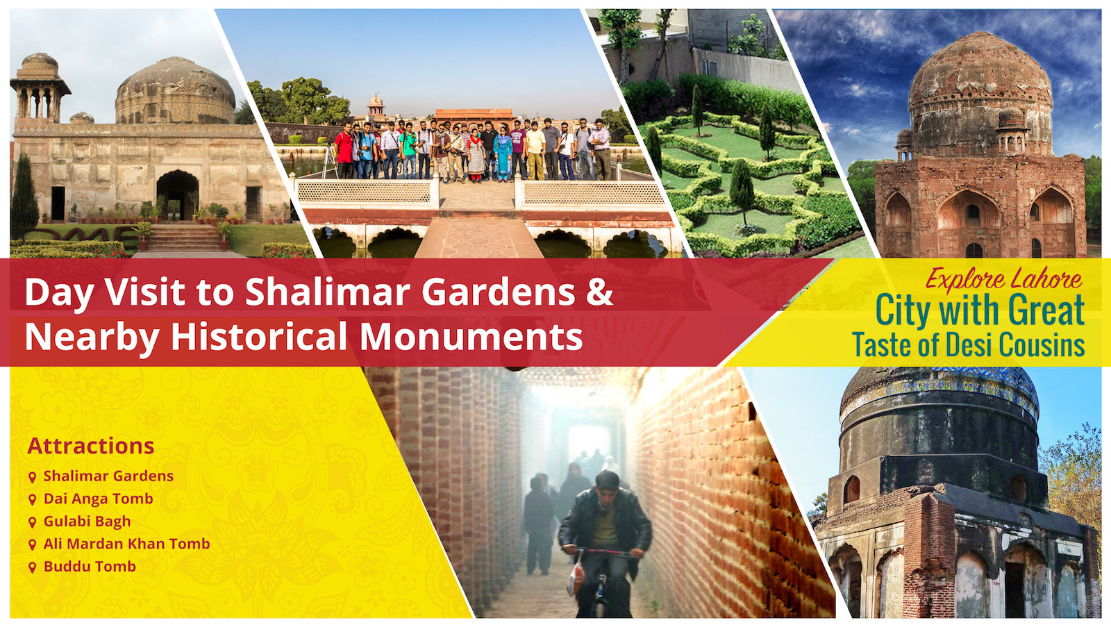 Day Visit to Shalimar Gardens & Nearby Historical Monuments
