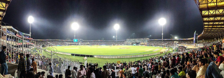 A Panoramic view of Gaddafi Stadium at Night. Photo Credits/Source: Unknown/Web