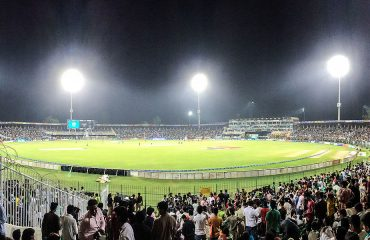A Panoramic view of Gaddafi Stadium at Night. Photo Credits/Source: Unknown/Web
