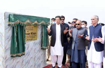 Khan inaugurating olive plantation drive