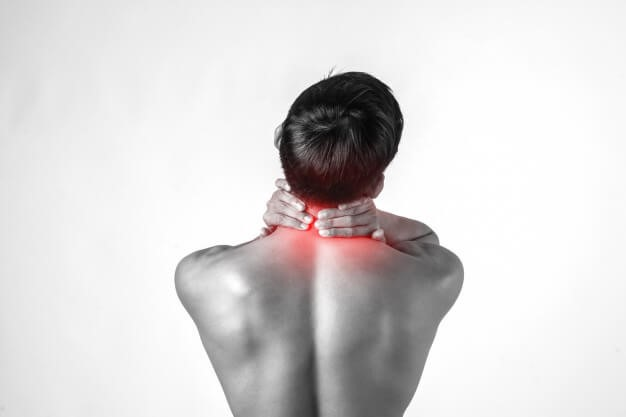 picture of person with neck pain and stiffness.