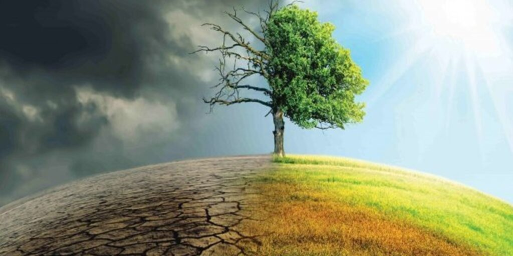 A picture illustrating climate change