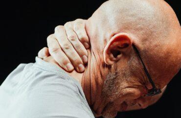 A man having neck pain