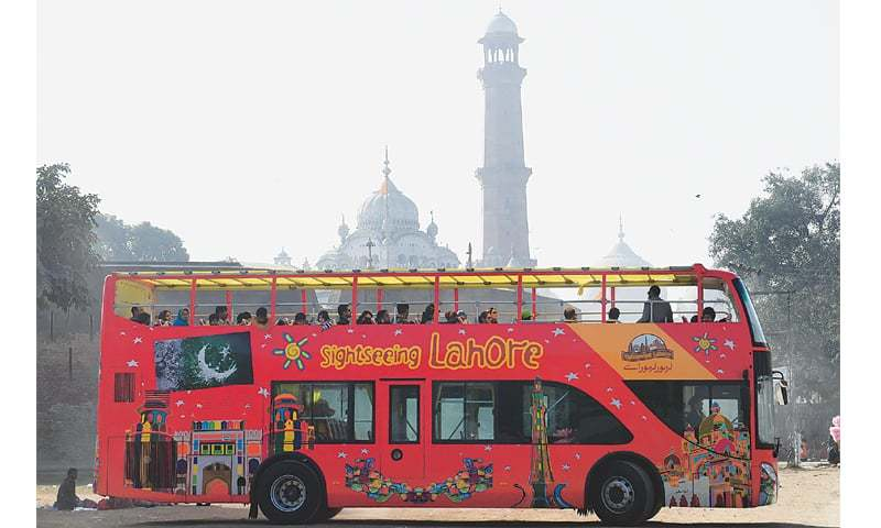 The Double Decker Tourist Bus A Round Around Lahore
